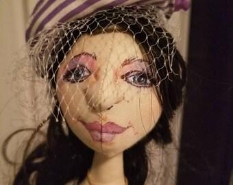 handmade cloth doll - Violet