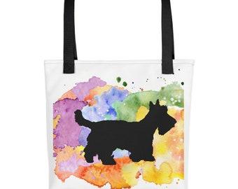 Scottie Dog Tote Bag, Scottie Art, Scottie Dog Mom, Scottish Terrier, Womens Bags, Reusable Bags