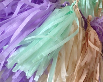 individual tassels, balloon tassels, Balloon tails, tissue paper tassels, sold seperate, fully assembled ,  Tassles - ANY COLOR you choose