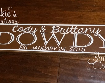 Personalized Last Name Wood Sign/ Wedding Gift/ Custom Wood Sign/ Established Family Sign