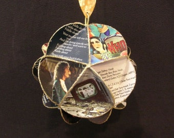 The Who Band Album Cover Ornament Made Of Record Jackets: Roger Daltrey Pete Townshend