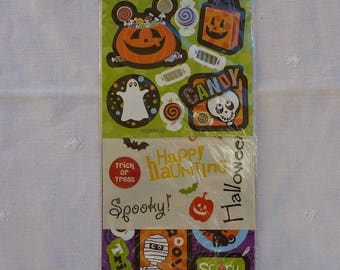 Halloween bags of 3 D words, borders, Halloween themed embellishments