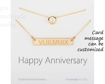 Personalized double layer necklace,Tiny dot necklace,engraved date bar,initial name necklace,coordinate bar,anniversary gift,wedding jewelry
