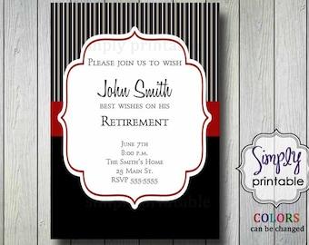 Retirement Invitation (Printable)
