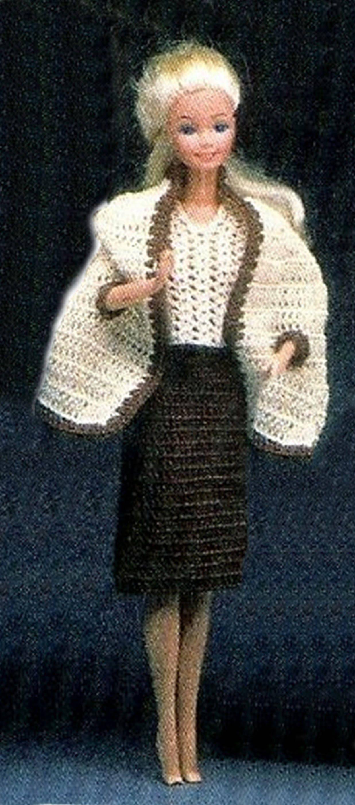Barbie Crochet, Doll Clothes, Barbie Dress Pattern, Barbie Crochet ...