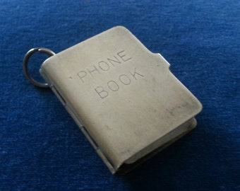 Vintage Sterling Phone Book, Vintage Sterling Note Book, Napier
