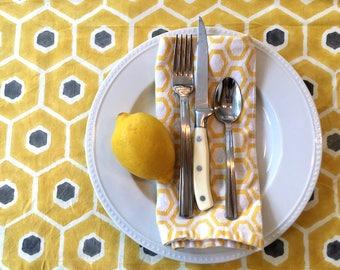 Honeybee Organic Cotton, Hand Block-Printed Table Runner