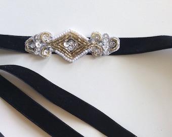 Great Gatsby Headbands, gold headband, silver 1920s headband, amethyst bronze flapper headpiece, plum purple violet headband, champagne ,