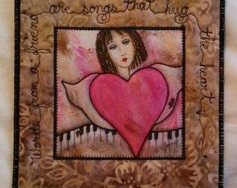 Songs That Hug the Heart Mug Rug