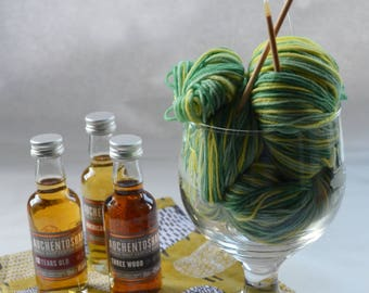Sunbeam Forest Hand Dyed Self Striping Sock Yarn