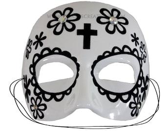 Thiago White Day of the Dead Mask   A-2456-E