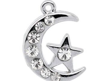 1 a star with a Pearl rhinestone 21 X 14 X 3 MM Rhinestone pendant.