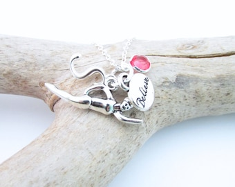 Swimming Necklace, Swim Necklace, Swimming Jewelry, Gifts for Swimmers, Swimmer Gift, Swimming Jewelry