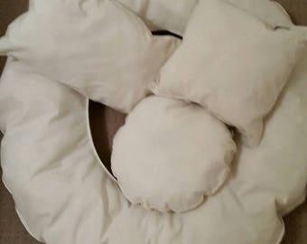 Newborn Posing Cushions, Set of Six, Newborn Baby Photography, Photography shoots, Family Photography, Calico, DIY Filling, Space filler