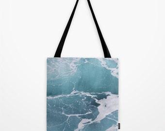 Blue Ocean Tote Bag, Reusable Bag, Photo Tote