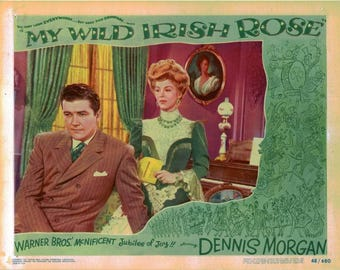 "My Wild Irish Rose - 1948 - 11"" x 14"" lobby card  - scene card"