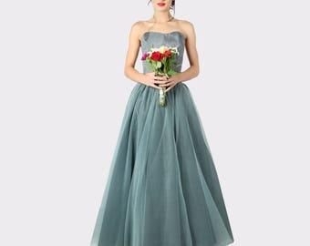 Grey tulle skirt, Tulle skirt, Tulle wedding skirt, Tulle bridal separates, Maxi tulle skirt, Adult tulle skirt ,Gray Bridesmaid tulle skirt