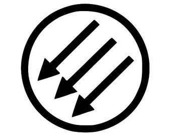 Anti-Fascist Symbol Screen Print Hoodie Sizes S-5XL