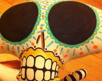 Day of the dead skull plush