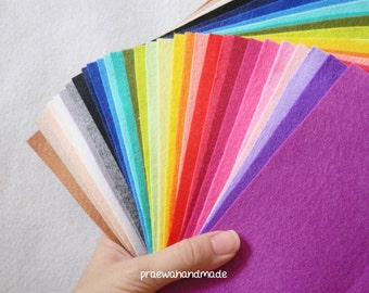 10 Polyester Felt Sheets in your favourite colours.