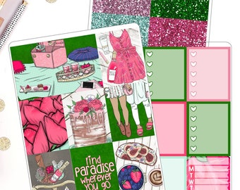 Walk In The Park Summer Weekly Kit for use in Erin Condren Life Planner