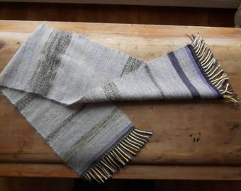 Woven scarf in Merino Wool, silk and mohair.