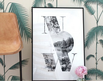 NOW art print - Faunascapes TYPE collection by WhatWeDo