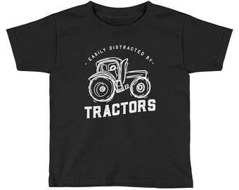 Easily Distracted By Tractors Kids Shirt - tractor shirt - tractor gift - truck shirt -farm shirt - boys tractor shirt - girls tractor shirt