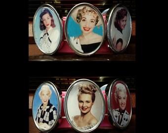 Classic Hollywood Lovers Bracelet: Wearing Black & White