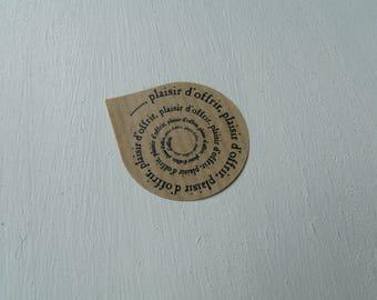 "Labels stickers ""pleasure of giving"" Kraft"