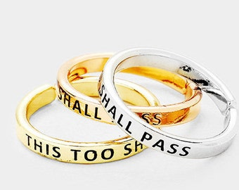 This too shall pass- Midi ring