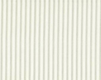 Round Tablecloth Seafoam Green Ticking Stripe