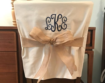 Desk Chair Covers/Monogrammed Dorm Chair Back Cover / Personalized chair Cover / Office Chair / Dining Chair/ One Size Fits Most