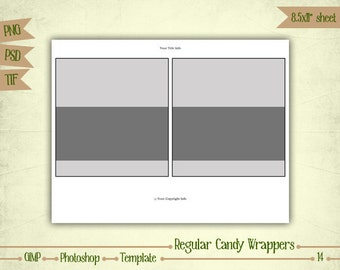 Candy Bar Wrappers - Digital Collage Sheet Layered Template - (T014)