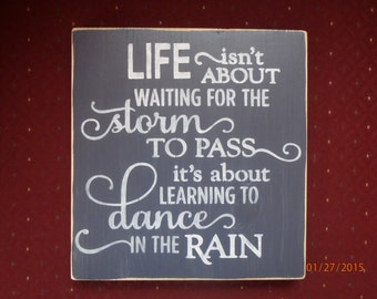 Dance In The Rain Printable Inspirational Quote