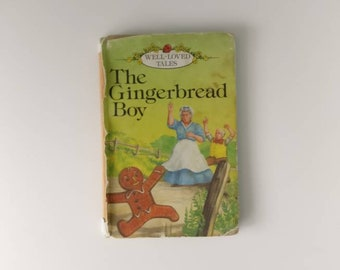 The Gingerbread Boy Notebook handmade from a vintage Ladybird Book