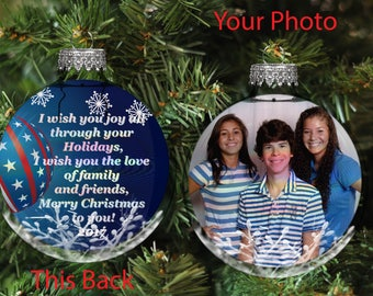 Custom Photo Ornament, Picture Christmas Ornament,  Christmas Photo Ornament, Personalized Picture Ornaments, Photo Ornaments