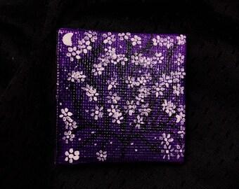 Moonflower miniature painting
