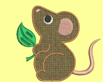 SALE 50% 7 Size Rat Applique Embroidery Designs, Machine Embroidery Designs - 8 File Fomats