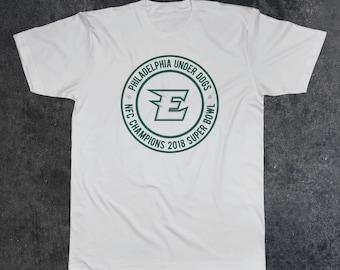 Philadelphia Eagles Underdogs Super Bowl Fan T-Shirt 50/50 blend (Eagles E)