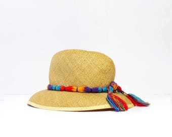 1960s Betmar  Tassel Straw Hat