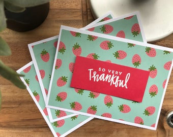 Strawberry So Very Thankfuls - pack of 3