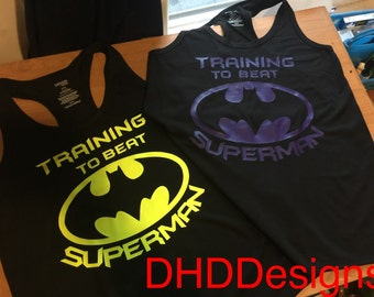 Training To Beat Superman Batman Gym Tank