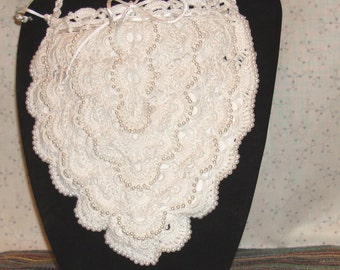 Pearls and lace wedding purse