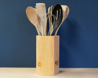 Pine Utensil Pot - Utensil Holder - Utensil Jar - Sold Singly Or In Sets