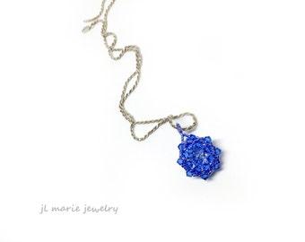 september birthstone pendant . sapphire . swarovski crystal . sapphire crystal . birthstone  . light blue . gift idea . necklace.