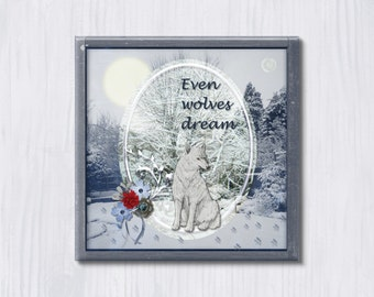 Even Wolves Dream - Instant Downloadable Art Print Digital Wall Art Printable Art Home Decor