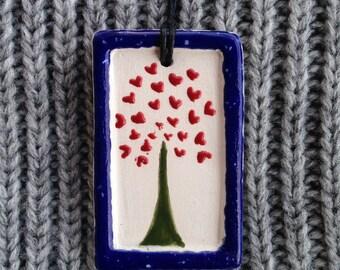 Love tree pendant