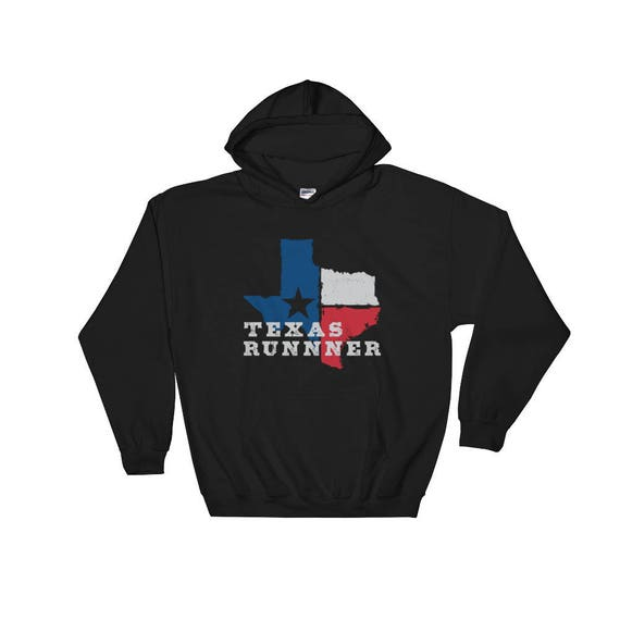 Texas Runner Hooded Sweatshirt - Unisex - Hoodie - Run Texas - Heavyweight Sweatshirt
