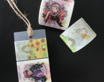 Floral Girl Washi Tape